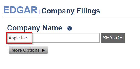 Firmen Filings mit EDGAR finden